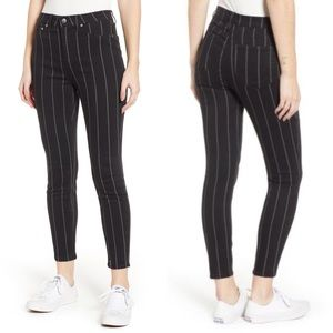 Tinsel | Pin Stripe High Rise Skinny Jeans